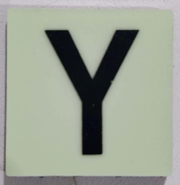 Glow in dark Number Y sign The Libert  Sign