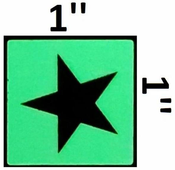 GLOW IN DARK STAR EMERGENCY MARKING SIGN G