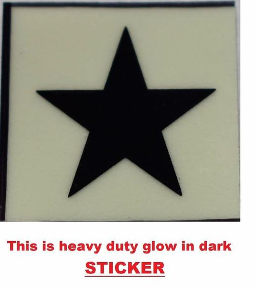 GLOW IN DARK STAR EMERGENCY MARKING SIGN G  Sign