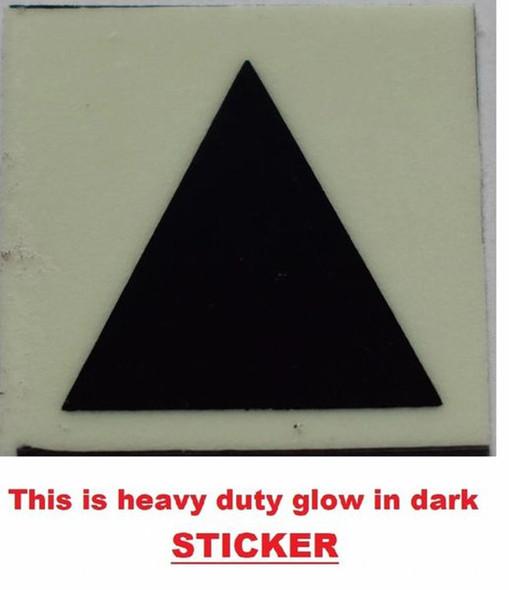 GLOW IN DARK TRIANGLE EMERGENCY MARKING SIGN G  Sign