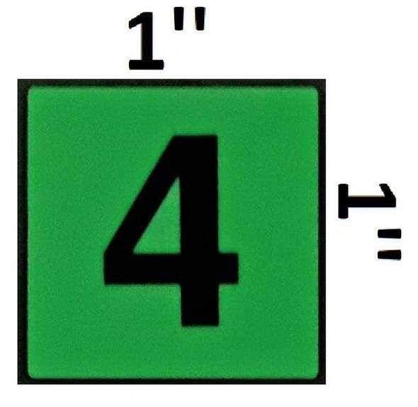 PHOTOLUMINESCENT DOOR NUMBER 4 SIGN GLOW IN DARK