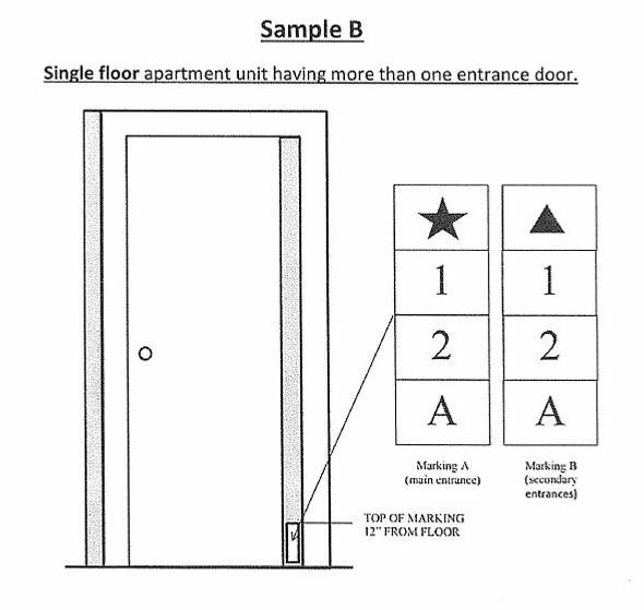 PHOTOLUMINESCENT DOOR NUMBER H SIGN GLOW IN DARK