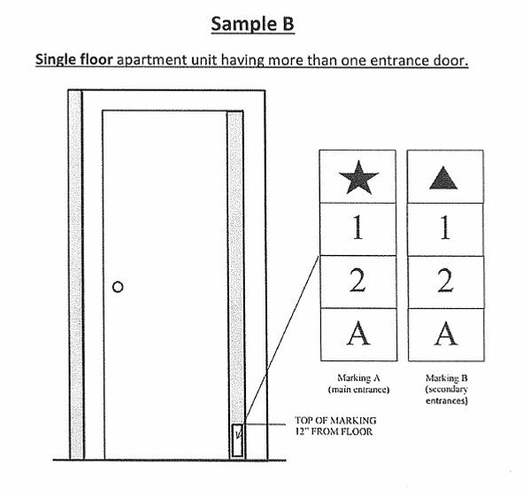 PHOTOLUMINESCENT DOOR NUMBER J SIGN GLOW IN DARK