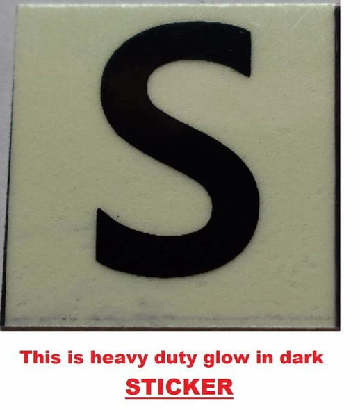 PHOTOLUMINESCENT DOOR NUMBER S SIGN GLOW IN TH  Sign