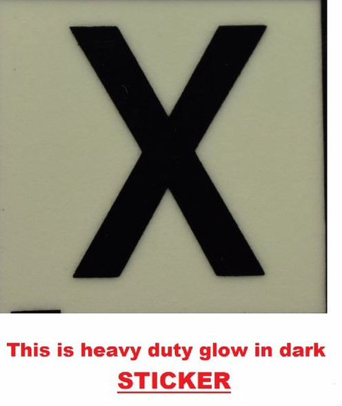 PHOTOLUMINESCENT DOOR NUMBER X SIGN  GLOW IN TH  Sign