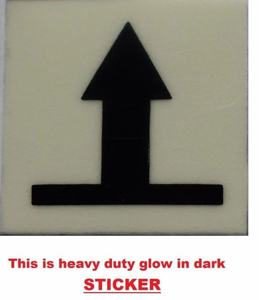 GLOW IN DARK UPWARDS ARROW EMERGENCY MARKING SIGN  Sign