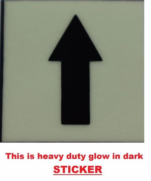 GLOW IN DARK UPWARDS AND DOWNWARDS ARROW EMERGENCY M  Sign