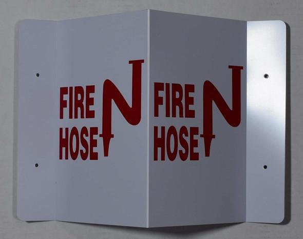FIRE Hose 3D Projection  Signage/FIRE Hose Hallway  Signage