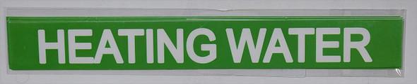Set of 5 PCS - Pipe Marking- Heating Water Signage