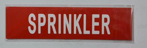 Set of 5 PCS - Pipe Marking- Sprinkler  Signage