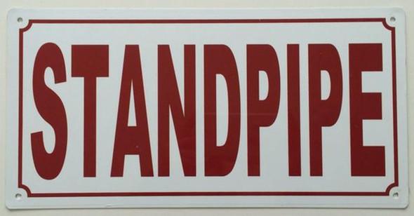 Standpipe  Signage  6x12