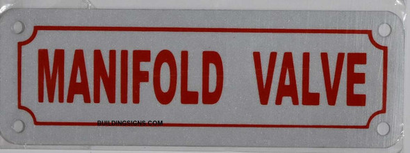 MAINFOLD Valve  Signage