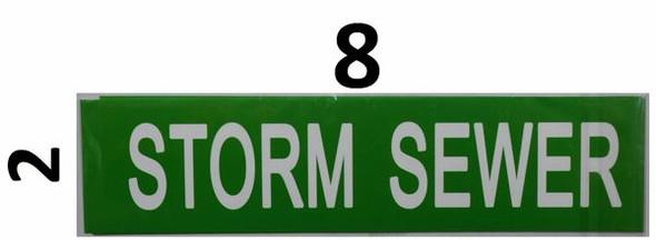 Storm Sewer Sticker -Green