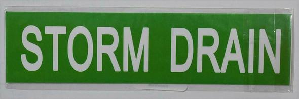Set of 5 PCS -Storm Drain Signage