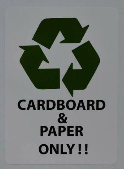 Cardboard and Paper ONLY Sticker Signage