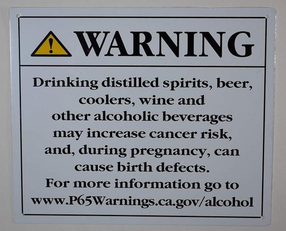 California Prop 65 Alcohol Warning  Signage  Rust