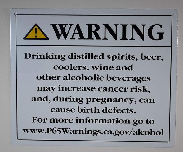 California Prop 65 Alcohol Warning  Signage