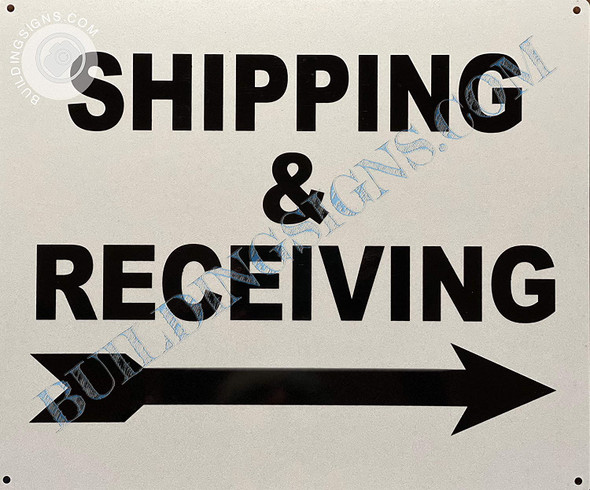 Signage Shipping & Receiving  - Right Arrow