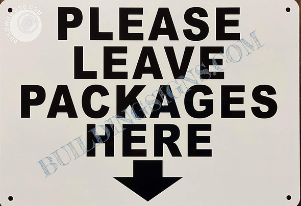 Signage Please Leave Packages Here