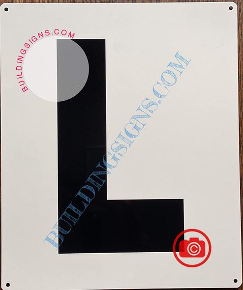 Large Letter L -Metal Sign - Parking LOT Sign