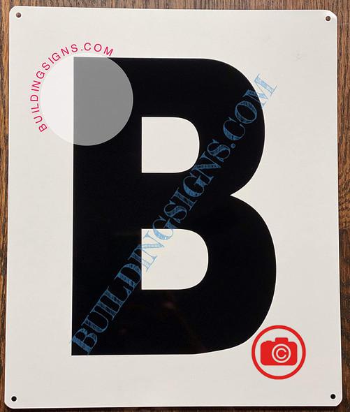 Large Letter B -Metal Sign - Parking LOT Sign