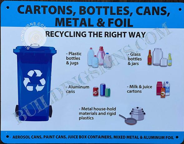 CARTONS Bottles CANS Metal