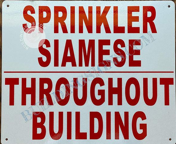 Sprinkler Siamese THROUGHT Building Sign