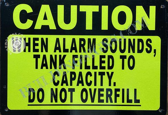 Caution When Alarm Sound Tank is Filled  Singange