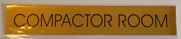 COMPACTOR ROOM  Signage -  BACKGROUND