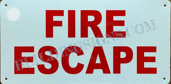 FIRE Escape Sign (White,