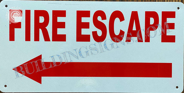 FIRE Escape Sign Left Arrow