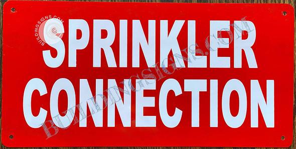 Sprinkler Connection Sign