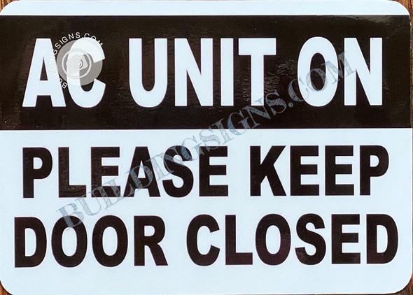 AC Unit ON: Please Singange