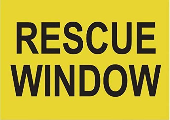 Rescue Window Label Decal Sticker  Singange