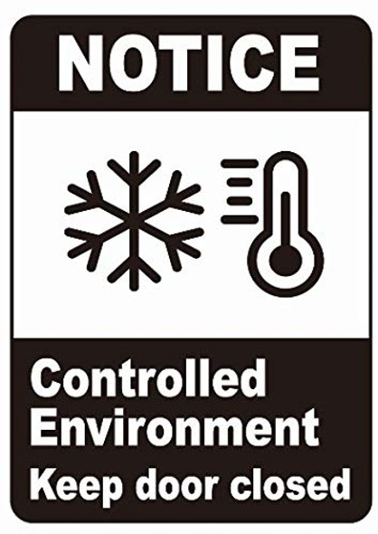Notice Controlled Enviroment Keep Door Closed Decal Sticker  Singange