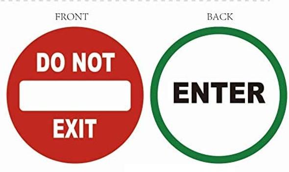 Enter / DO NOT Enter Sticker Window Sticker Decal  Singange