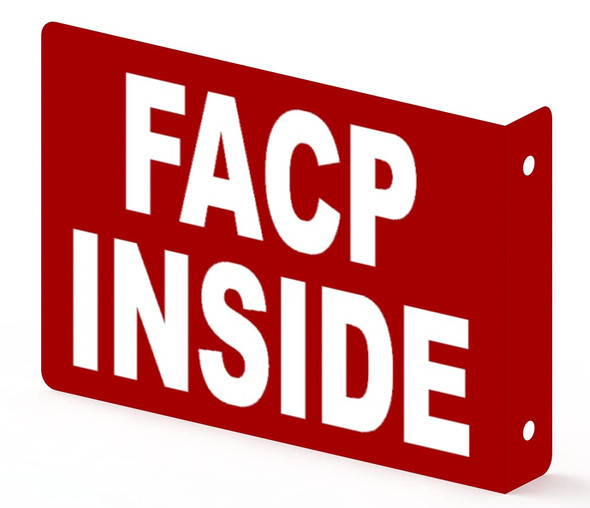 FACP Inside Projection Sign- FIRE Alarm Control Panel Inside 3D