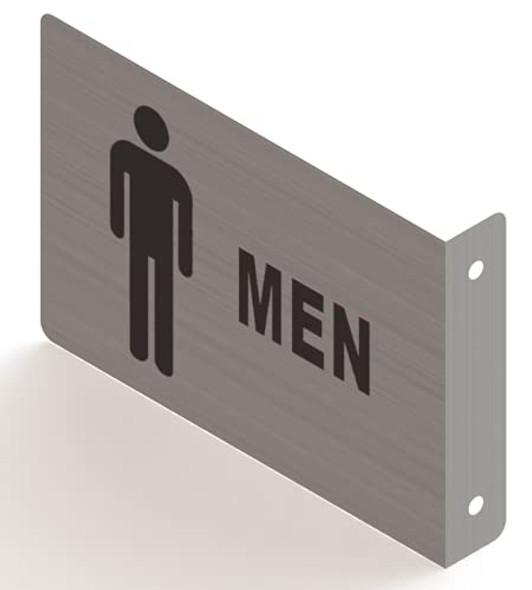 Men Restroom Projection Sign- Men Restroom 3D Sign Brush