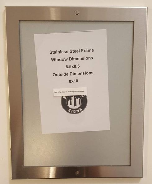 Elevator certificate frame