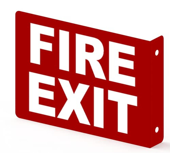 FIRE EXIT Projection Sign-FIRE EXIT 3D Sign