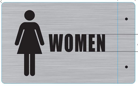 Woman Restroom Projection - Woman Restroom 3D  Brush Singange