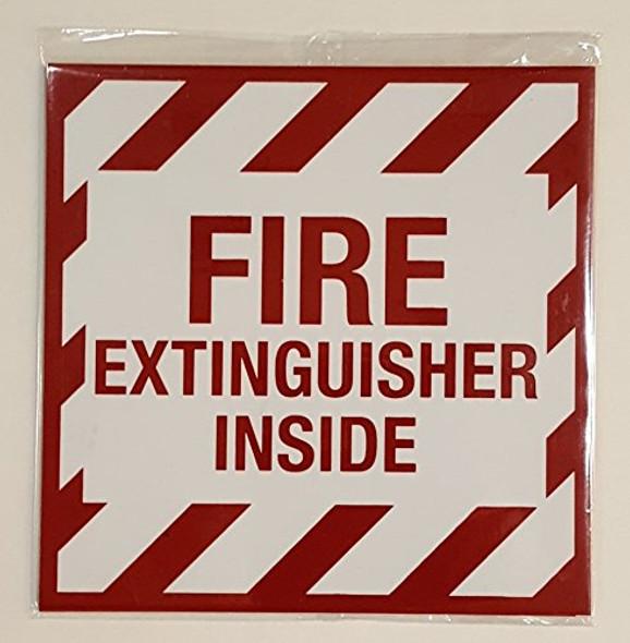 2 pcs -FIRE Extinguisher Inside  Signage