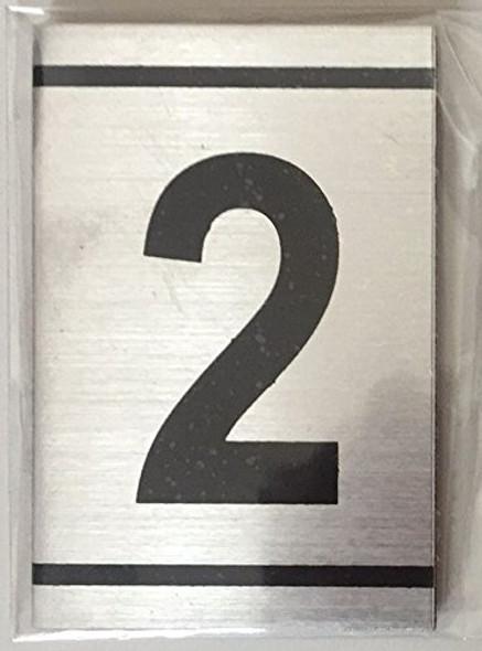 NUMBER  Signage -2 -BRUSHED ALUMINUM