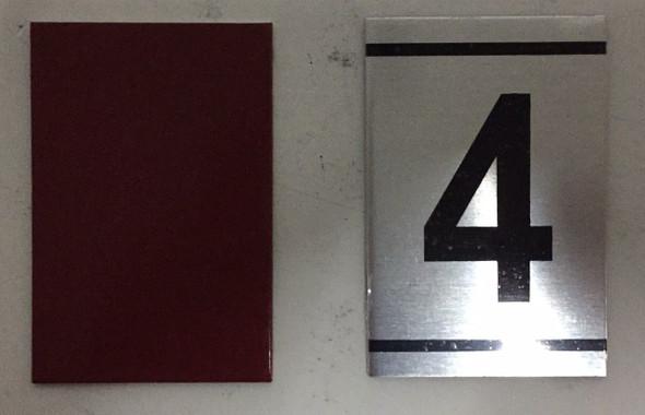 NUMBER  -4 -BRUSHED ALUMINUM