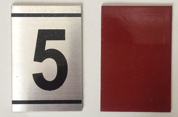 NUMBER  -5 -BRUSHED ALUMINUM