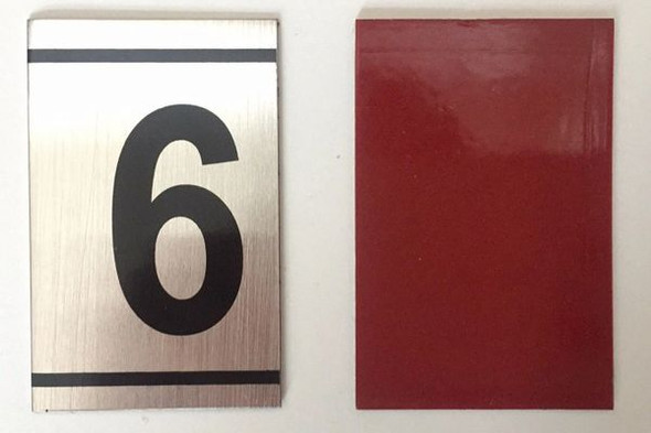 NUMBER  -6 -BRUSHED ALUMINUM