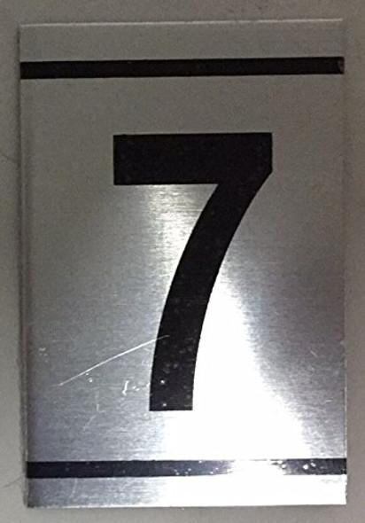 NUMBER  Signage -7-BRUSHED ALUMINUM