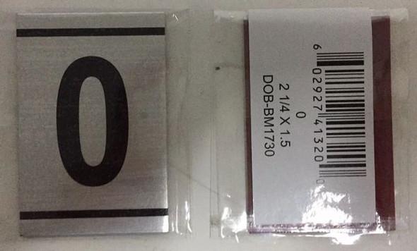 NUMBER  -0-BRUSHED ALUMINUM