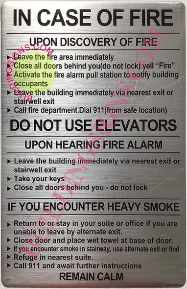Door fire Notice sinage/Hotel fire Door sinage School fire Door sinage