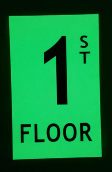 Floor number 1  HEAVY DUTY / GLOW IN THE DARK